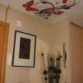натяжной потолок в прихожей фото виды