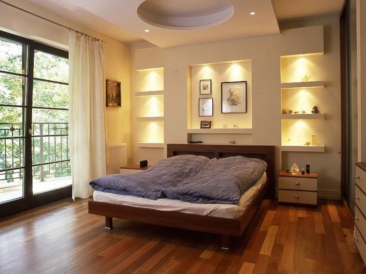 Ниши с подсветкой в интерьере спальни