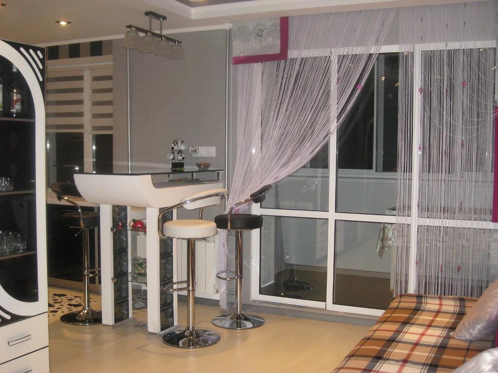 нитяные шторы на кухне декор идеи