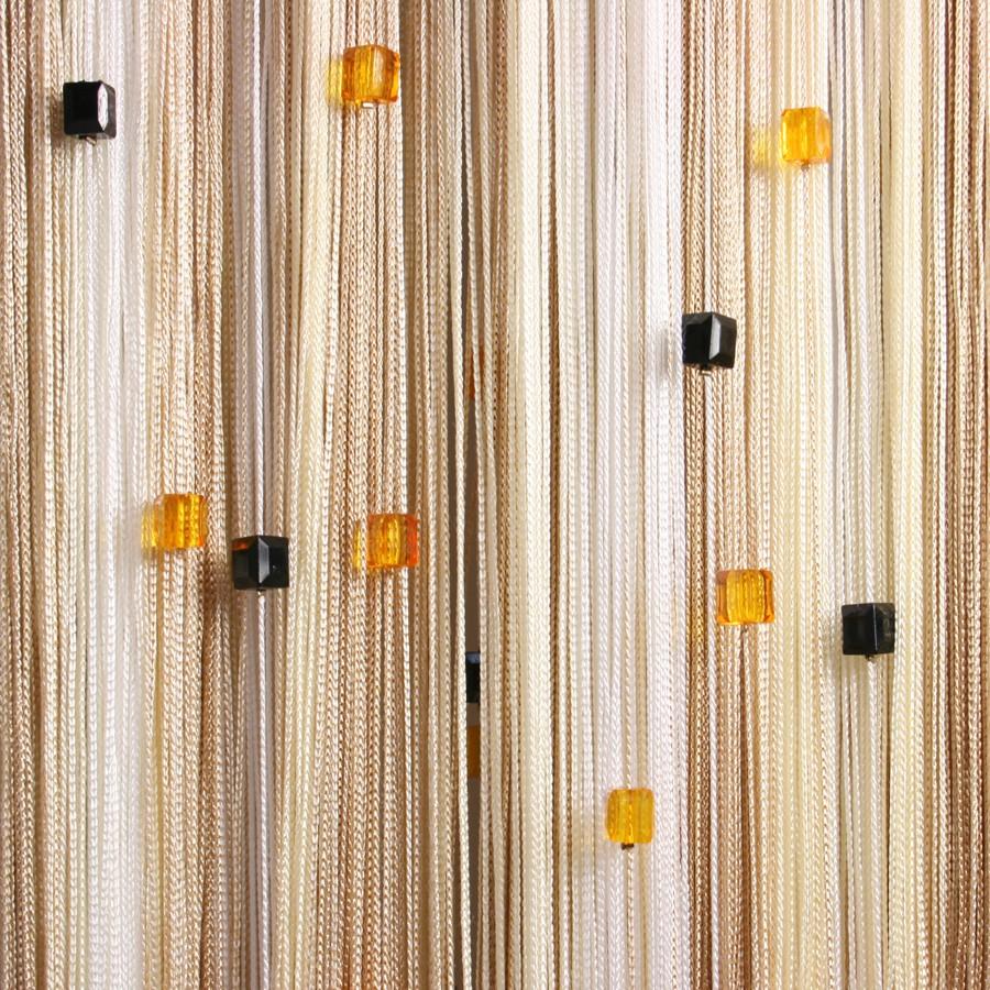 нитяные шторы на кухне дизайн