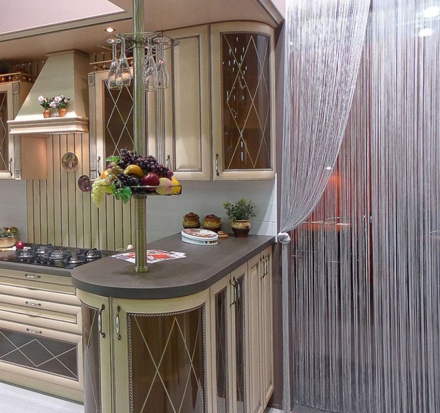 нитяные шторы на кухне идеи варианты