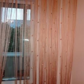 нитяные шторы на кухне варианты фото