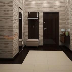 обои для коридора с темными дверями идеи декор