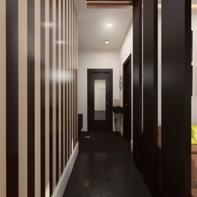 обои для коридора с темными дверями идеи фото