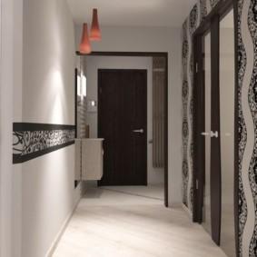 обои для коридора с темными дверями варианты фото