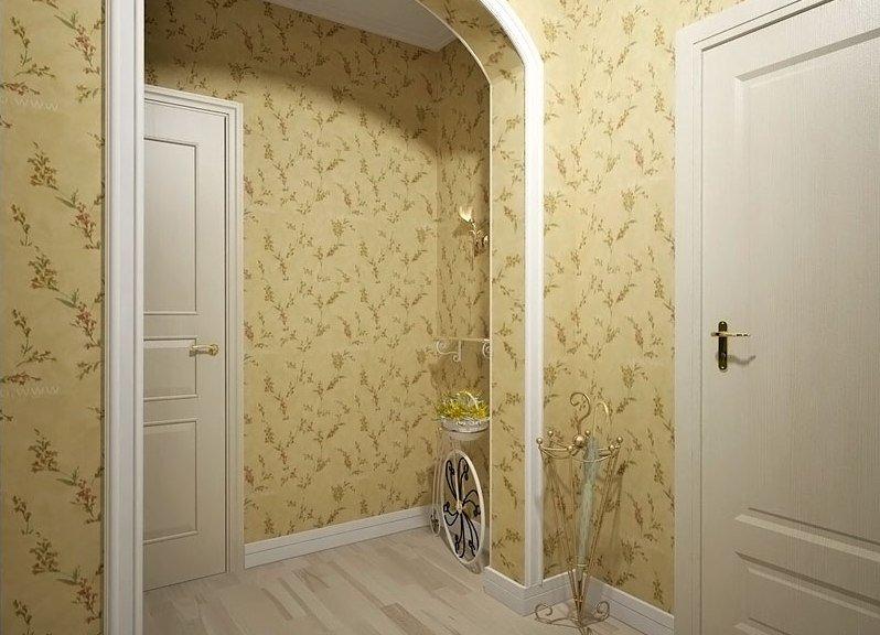 тканевые обои в узкий коридор