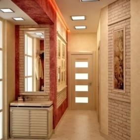 обои и декоративный камень в интерьере прихожей идеи обзоры