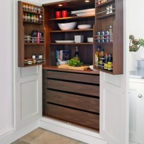 организация пространства на кухне интерьер