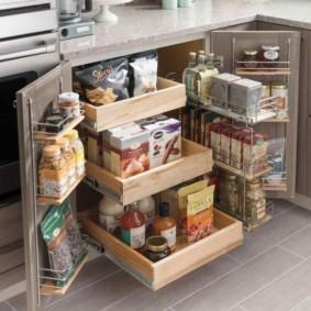 организация пространства на кухне интерьер фото
