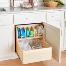 организация пространства на кухне фото интерьер