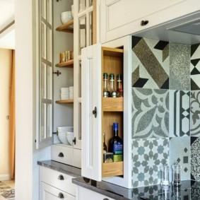 организация пространства на кухне оформление фото