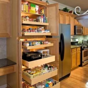 организация пространства на кухне варианты