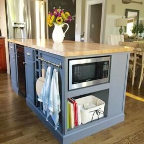 организация пространства на кухне фото варианты