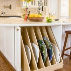 организация пространства на кухне виды