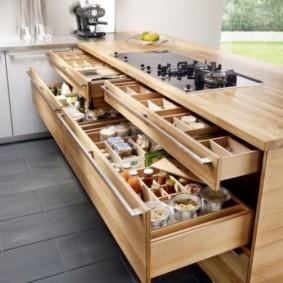 организация пространства на кухне фото виды