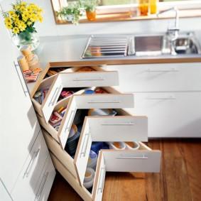 организация пространства на кухне фото видов