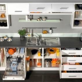 организация пространства на кухне обзор