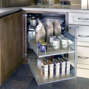 организация пространства на кухне обзор фото
