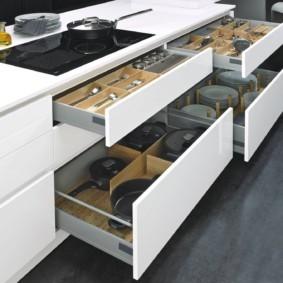 организация пространства на кухне виды дизайна