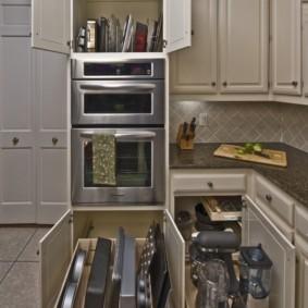 организация пространства на кухне декор фото