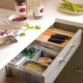 организация пространства на кухне фото декора