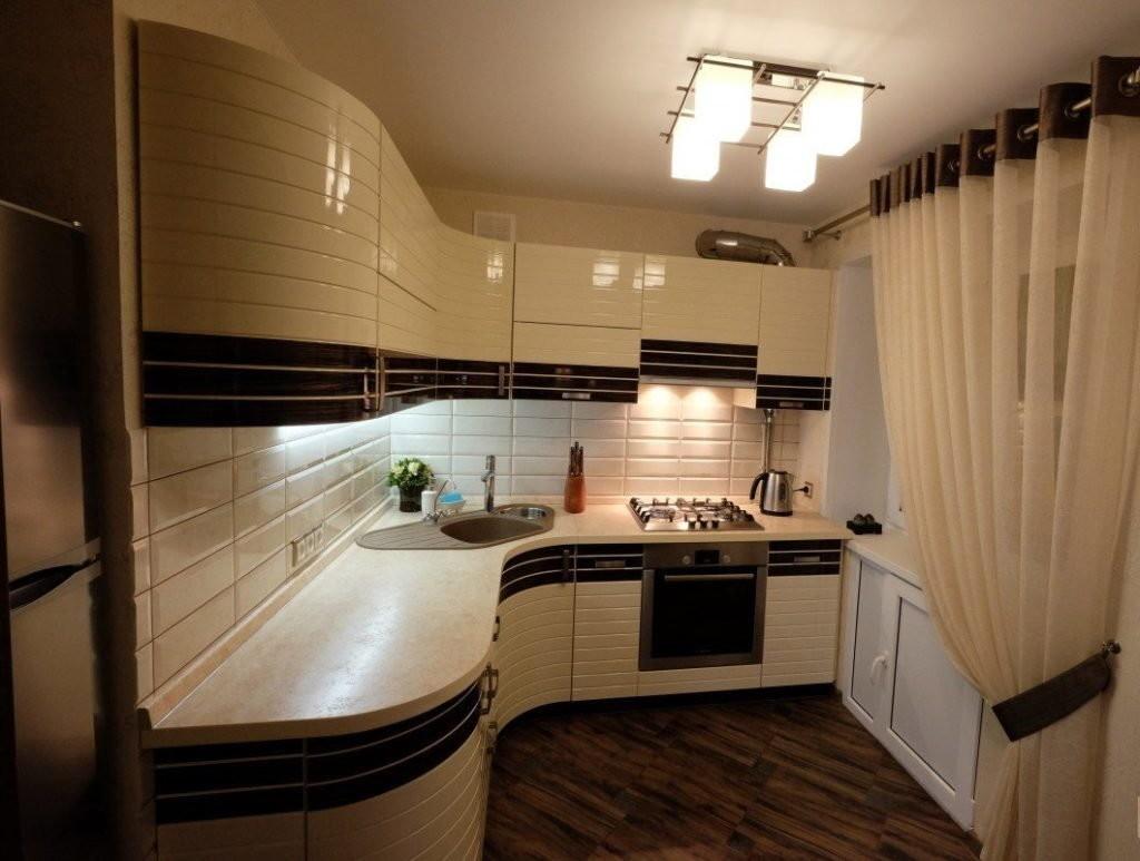 Пример освещения кухни в однокомнатной хрущевке
