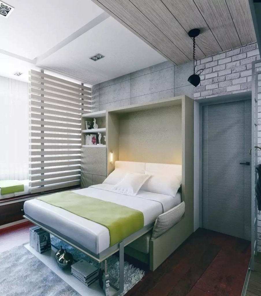 Дизайн квартиры-студии с откидной кроватью