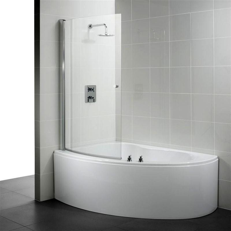 Угловая ванна с боковым душем