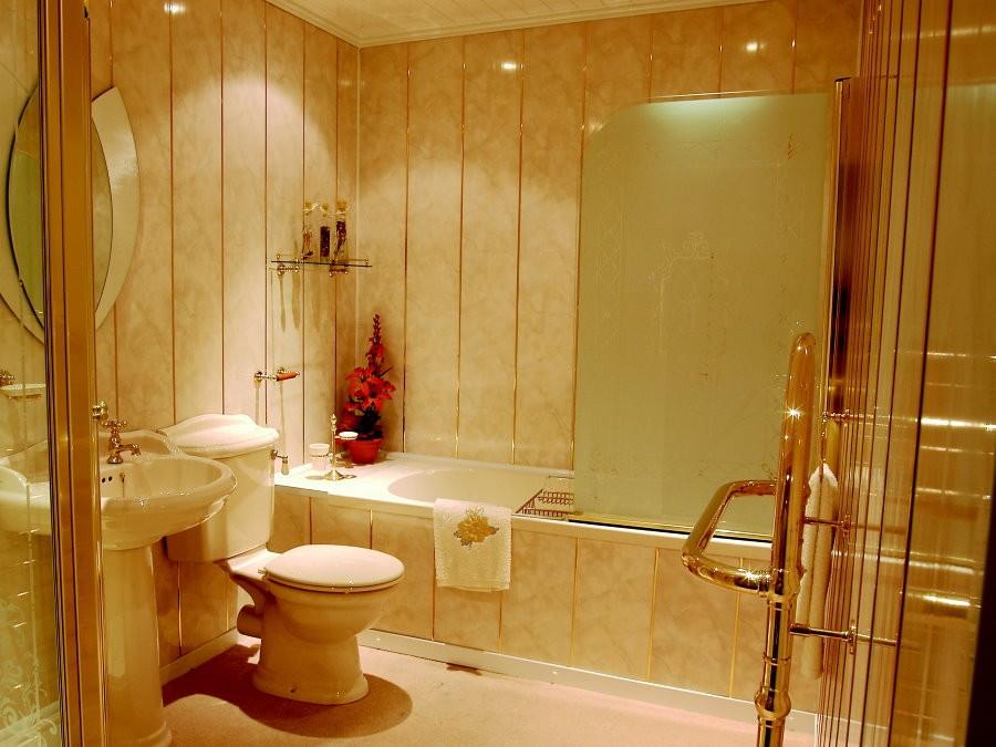 Отделка ПВХ-панелями классической ванной комнаты