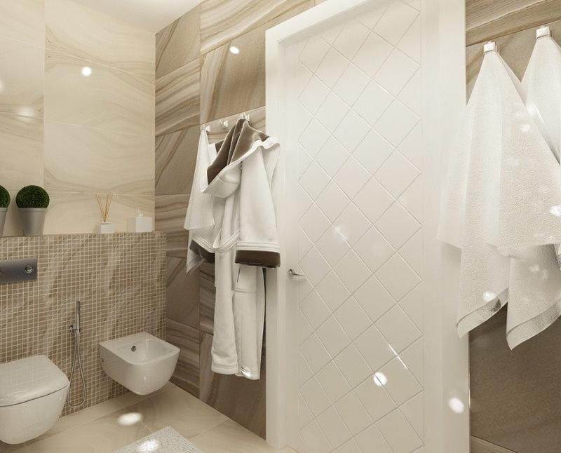 Белая дверь из пластика в ванной городской квартиры