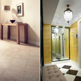 плитка на пол в коридор декор фото