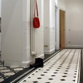 плитка на пол в коридор идеи декор