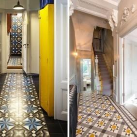 плитка на пол в коридор идеи декора