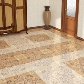 плитка на пол в коридор интерьер