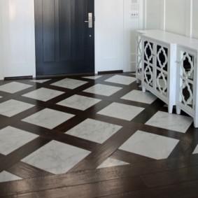 плитка на пол в коридор фото оформление