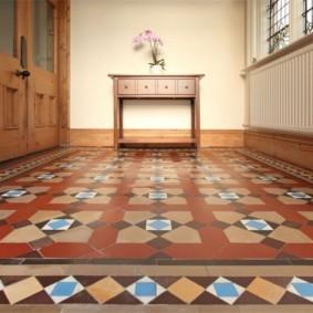 плитка на пол в коридор фото оформления