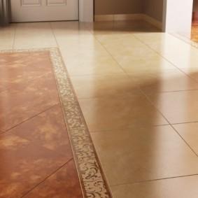 плитка на пол в коридор варианты