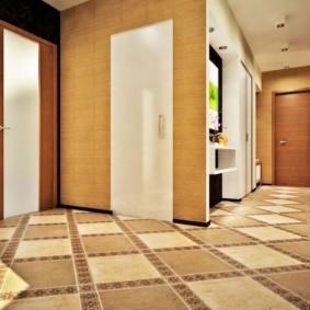 плитка на пол в коридор дизайн