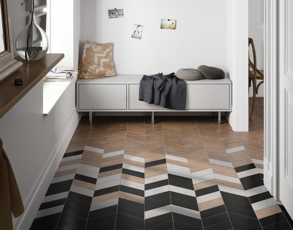 плитка на пол в коридор фото интерьера