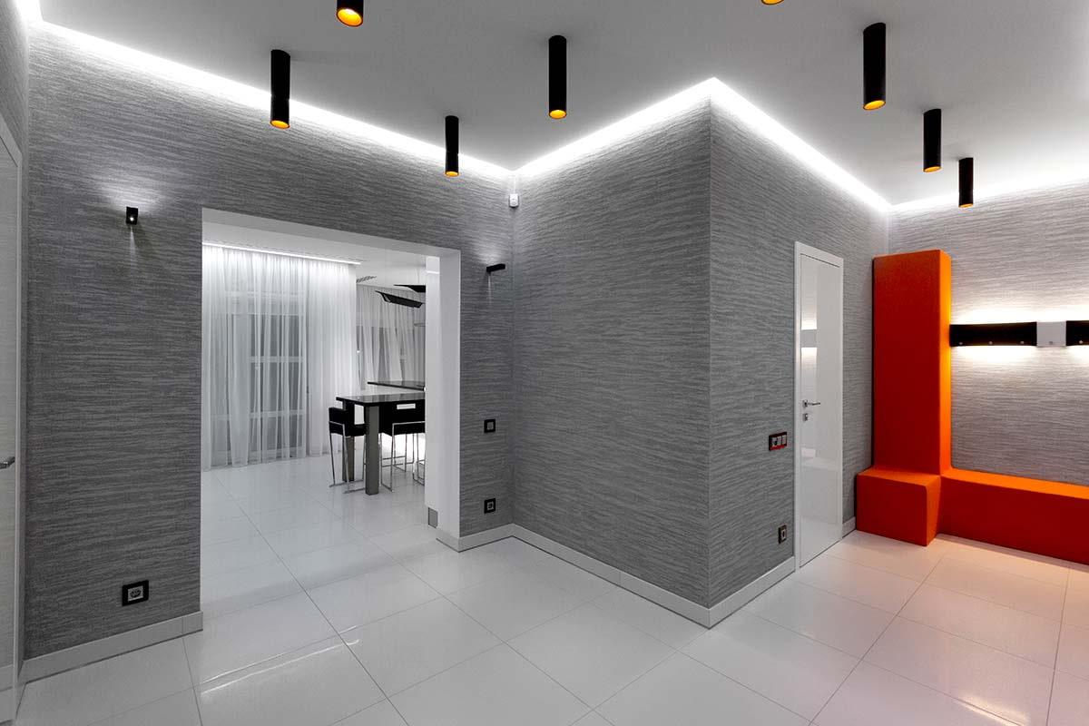 плитка на пол в коридор хай тек