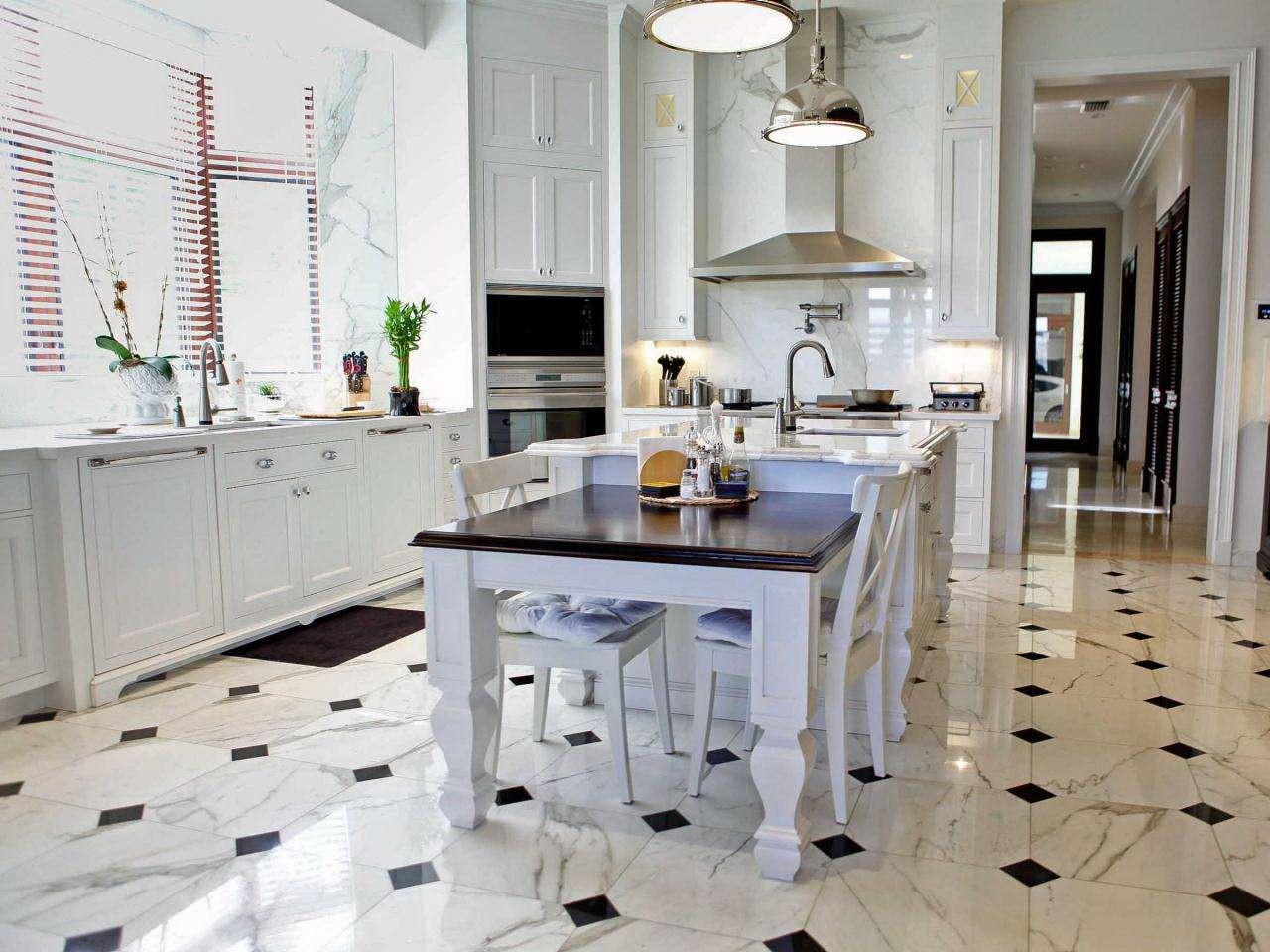 плитка на пол в кухню