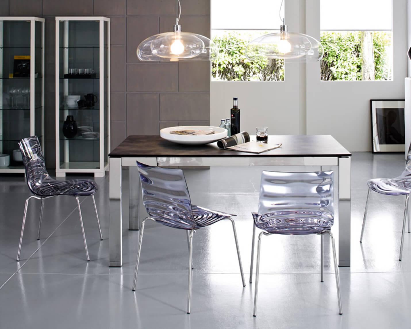 обеденная группа для кухни стеклянные стулья