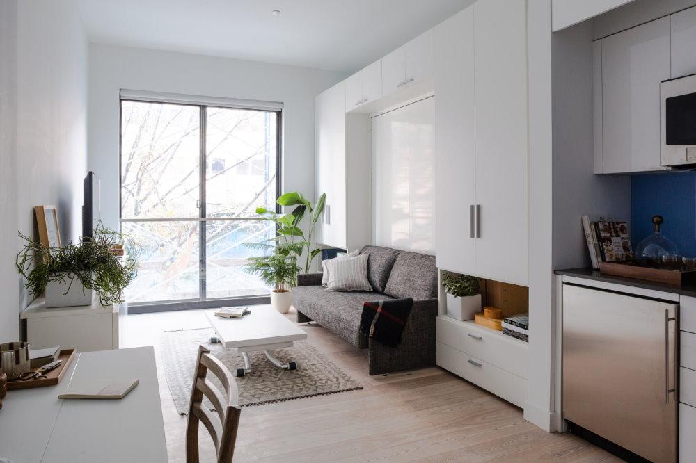 Прямоугольная квартира с одним окном