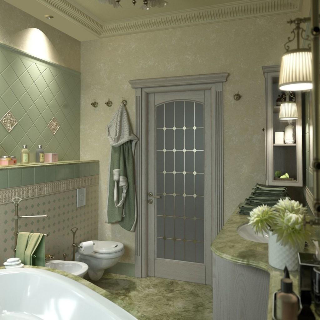 Дизайн совмещенной ванной в английском стиле