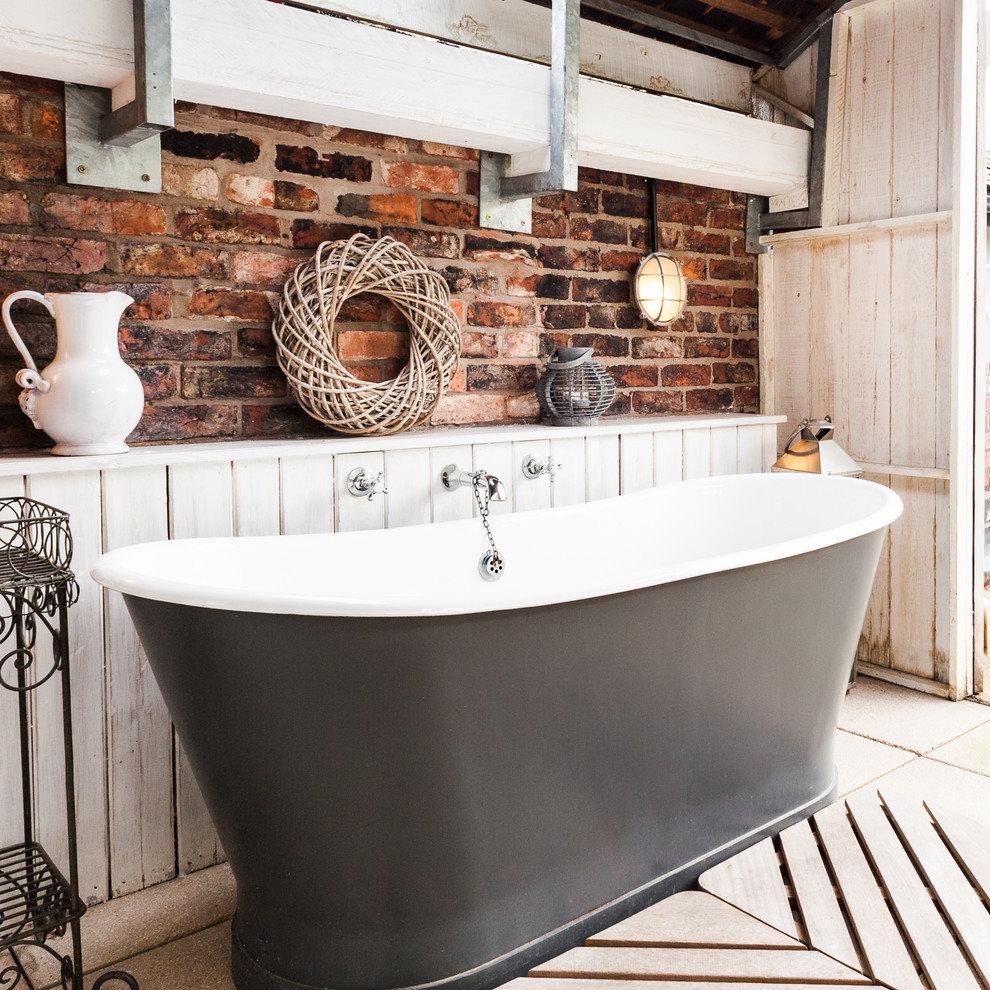 Серая металлическая ванна для прованса