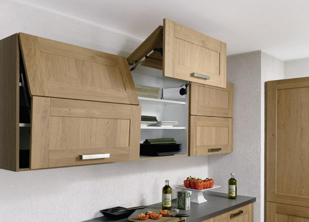 Подъемные дверцы кухонных шкафчиков
