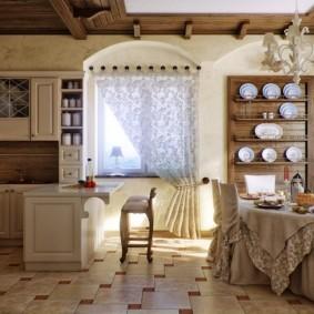 шторы для кухни в стиле прованс фото дизайн
