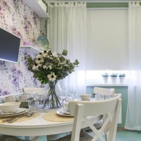 шторы для кухни в стиле прованс фото декор