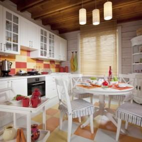шторы для кухни в стиле прованс фото декора