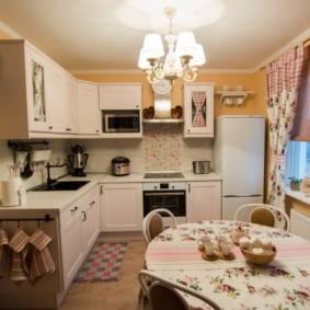 шторы для кухни в стиле прованс декор идеи